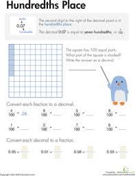 decimals hundredths place worksheet education com