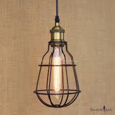 Wrought Iron Mini Pendant Lights Satin Black 1 Light Wrought Iron Mini Pendant With Wire Cage