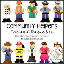 community helpers cut and paste set community helpers crafts