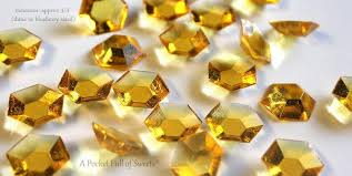 edible candy jewelry 125 gold citrine edible sugar jewels barley sugar candy gold