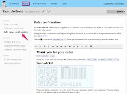 Order Confirmation Template by Customising Order Confirmation Messages Ticket Tailor