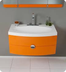 Vanity Folding Mirror 36 U201d Energia Fvn5092or Orange Modern Bathroom Vanity W Three