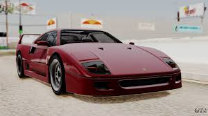 ferrari f40 1987 without up lights ivf for gta san andreas