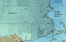 Boston Snow Total Map by Snow Wraps Up This Morning