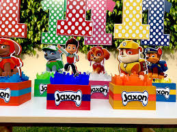 Centerpieces For Birthday by Paw Patrol Number Centerpieces For Birthday Candy Buffet Or