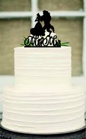 monogram cake toppers for weddings silhouette wedding cake topper unique wedding cake topper