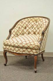 barrel chair with ottoman french barrel chair 5 vintage country french louis style barrel
