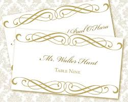 wedding place cards template lake side corrals