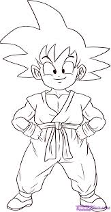 goku pictures color kids coloring