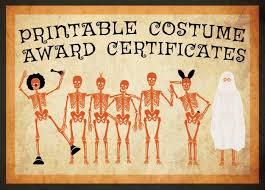 Contest Winning Halloween Costumes 10 Free Costume Award Certificates Printables Halloween