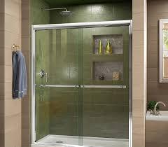 Bypass Shower Door Dreamline Duet 44 To 48 In Frameless Bypass Sliding Shower Door