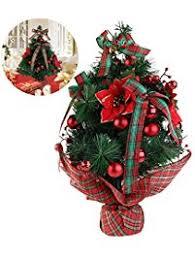 Small Table Top Decorated Christmas Trees by Christmas Trees Amazon Com