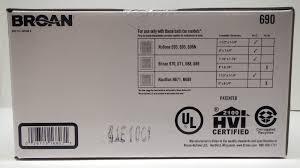 Broan Bathroom Fans Nutone Broan Nautilus Bath Fan Upgrade Kit 690nt For 693 695 696