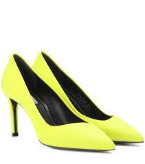 balenciaga escarpins en cuir jaune femme boutique en ligne france