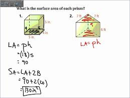 Volume Of Rectangular Prism Worksheet 11 2 Surface Area Of Prisms And Cylinders Wmv Youtube