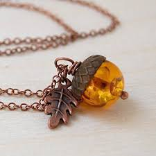 man charm necklace images Enchanted leaves amber and copper acorn necklace jpg