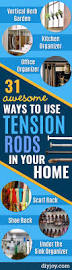31 awesome ways to use tension rods in your home diy joy
