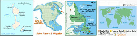 map of st and miquelon pettinaro bros world paper money market miquelon
