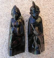 sculptures home decor bali bookends ethnic tribal statues home decor wood carvings