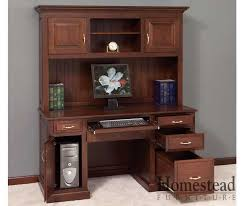 Custom Built Computer Desks Custom Built Hardwood Furniture By Homestead Furniture Made In Usa
