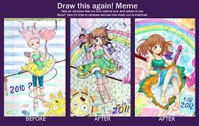 Draw This Again Meme Template - draw this thing again mikuru by magicalsakura on deviantart
