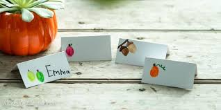 Placecards Thanksgiving Table Ideas 10 Simple U0026 Festive Place Cards