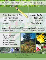 california native plant garden design upcoming events u2014 native revival nursery