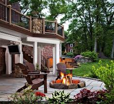 marvelous interesting fire pit on wood deck 16 on minimalist with