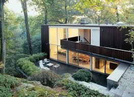 exterior awesome mid century modern homes with glass wall and