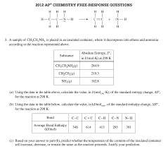 Standard Entropy Change Table G And G Revisited Adrian Dingle S Chemistry Pages