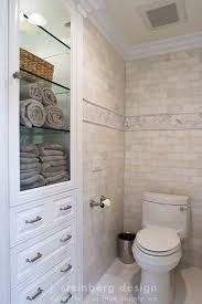 Traditional Bathroom By Janelle Steinberg Interior Design For - Floor to ceiling bathroom storage cabinets