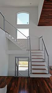cable stair railing square stainless steel posts and handrail