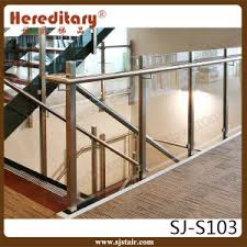 Stair Banister Glass China Stainless Steel Handrail Glass Stair Railing Post Sj S103
