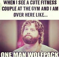 Gym Meme - one man wolfpack funny gym meme