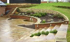 Garden Patios Ideas Patio Designs Ideas For Sloping Garden Landscaping Gardening Ideas