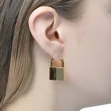 ear ring images padlock earring gold vermeil klassen
