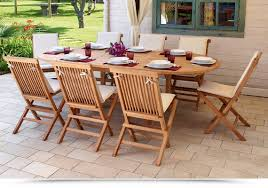 cuscini per sedie da giardino gallery of set da pranzo per arredo giardino in legno teak