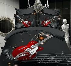 music themed queen comforter music theme bedding cool red electric guitar bedding music theme