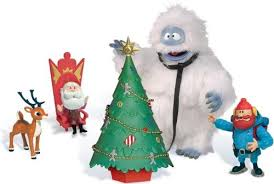 rudolph red nosed reindeer abominable snow monster figure