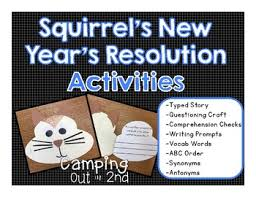 new year s resolutions books squirrel s new year s resolution book activities by cing out in
