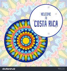 costa rica illustration vector decorated coffee stock vector