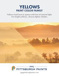 ppg pittsburgh paints yellow paint colors