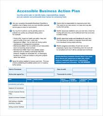 sample business action plan u2013 8 example format