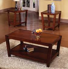 brown coffee table and table sets with walnut and pecan