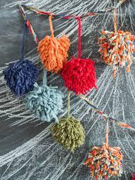 kids u0027 craft make a pom pom christmas garland hgtv