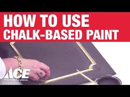 how to use chalk based paint ace hardware youtube