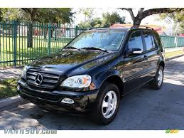mercedes benz jeep 2004 mercedes benz ml 350 4matic in obsidian black metallic