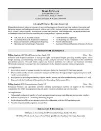 Medical Billing And Coding Job Description For Resume by Resume For Medical Billing Specialist Resume For Your Job