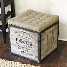 our hopeful home diy french burlap storage ottomans