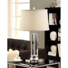 Lamps Home Decor Crystal Table Lamp For With Grey Shade For Your Home Décor Or